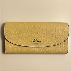 Coach pale yellow wallet